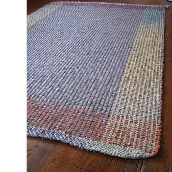 Teppich --- aus Baumwollbänder und Sisal