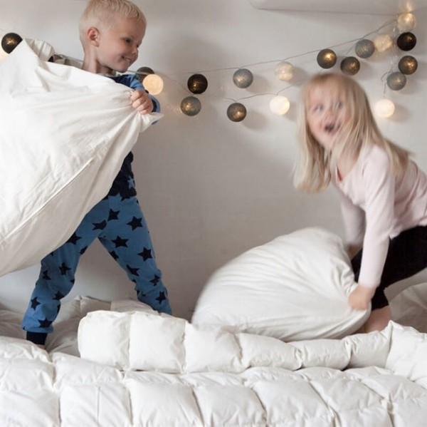 Kinder-Steppdecke mit Kapok 100x140cm